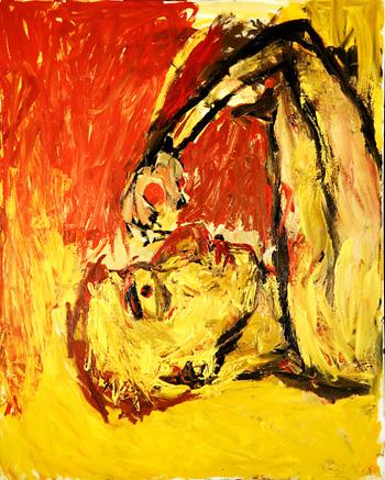 Georg Baselitz, Orangenesser, 1982
