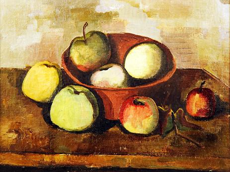 Karl Hofer, Tonschale mit Obst, 1943