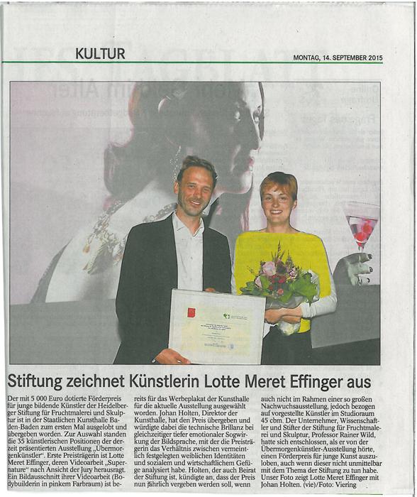 Badisches Tagblatt vom 14.9.2015