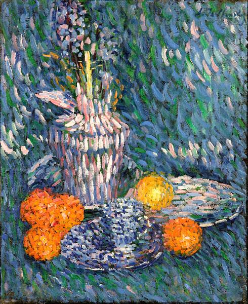 Stillleben mit Hyazinthe und Orangen, 1902